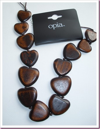 Primark Wooden heart necklace