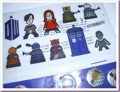 30p Dr Who Stickers