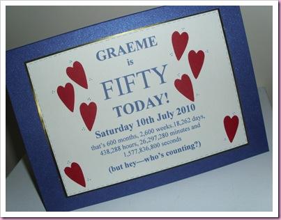 Graeme's Birthday card