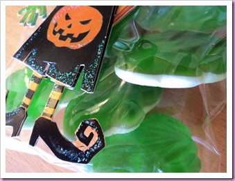 Frogs in Halloween Favor Bag