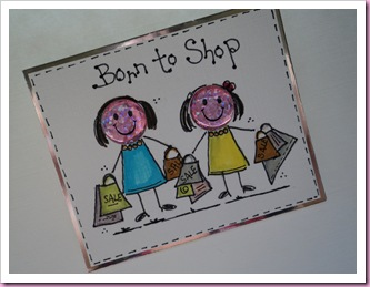 Born To Shop card 2