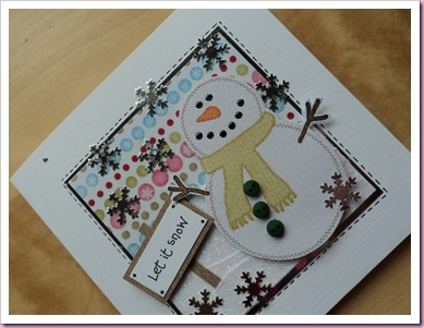 Let it Snow - Snowman Card