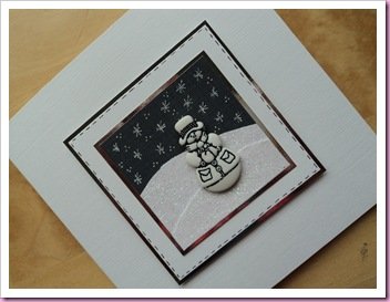 Snowman Button Card