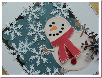 Scalloped Square Snowman Card 1