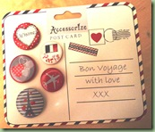 Accessorize Bon Voyage badge Set