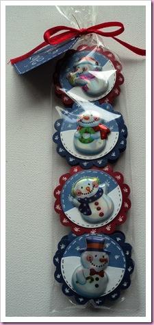 Anita's Snowmen 3D Laser Stickers
