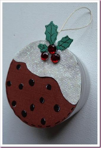 Christmas Pudding tin christmas tree decoration