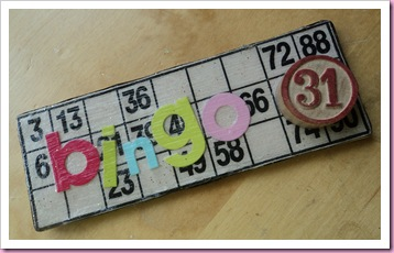Bingo Card Fridge magnet