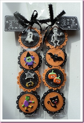 Halloween Sweetie Bags using Accessorize Stickers