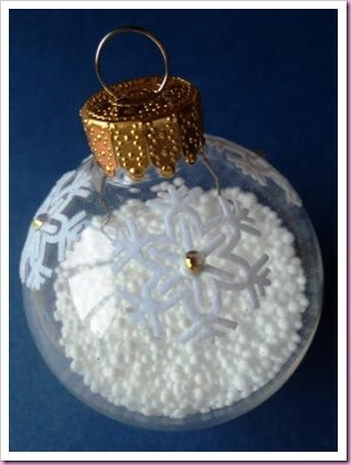 Altered Clear Christmas Bauble