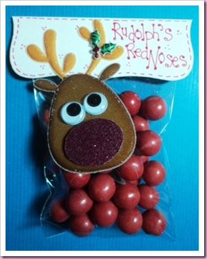 Rudolph's Noses Christmas Candy Favor Bag