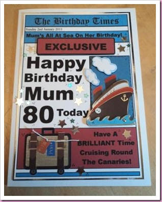 Cruise Birthday card