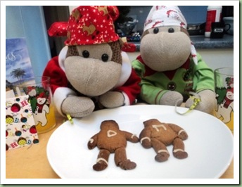 Festive Gingerbread Monkeys