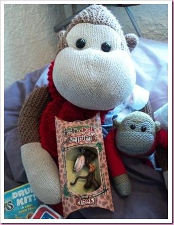 Jeli-deli monkey keyring