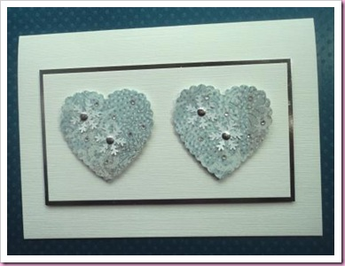 Christmas Hearts Card
