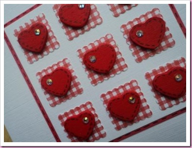 Little Wooden Hearts Valentine Card