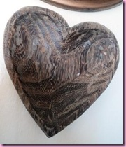 Wooden Heart Dish