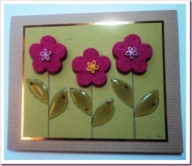 Felt Flower Card