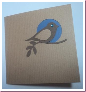 Stampin Up Bird Punch Card