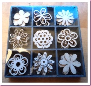 Wooden Flower Embellishments