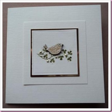 Little Wooden Bird Card a