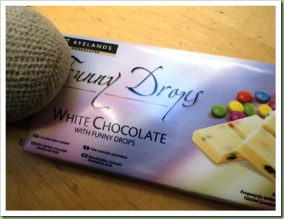 White Chocolate with Funny Drops