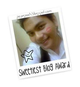 pojie sweetiest blog award