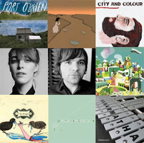Port O'Brien, Feist and Ben Gibbard, Gregory and the Hawk, Appleseed Cast, City and Colour, Efterklang, Helios, Scott Matthew