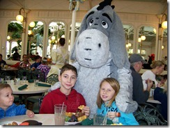 Eeyore meets the kids
