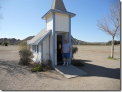 Tiny church north of Yuma, Az.