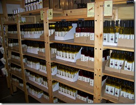 A selection of the various Olive Oils