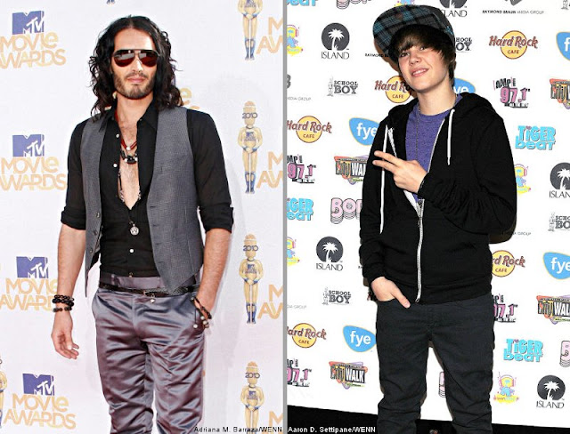 Russell Brand and Justin Bieber voted worst dressed