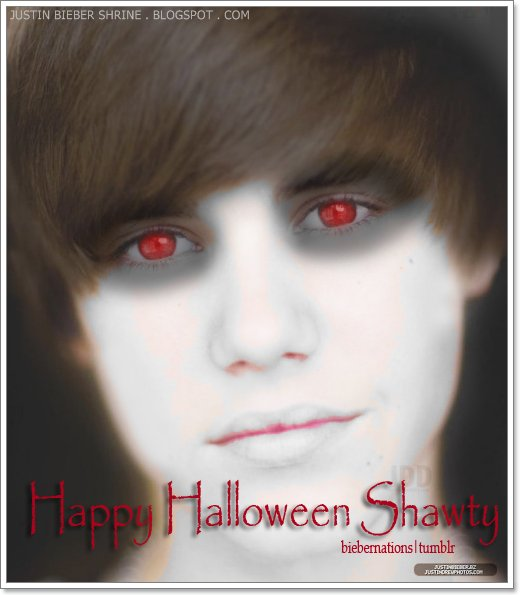 Scary Justin Bieber Halloween Pictures