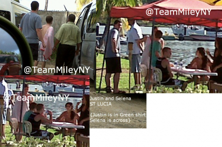 Justin Bieber and Selena Gomez in St. Lucia
