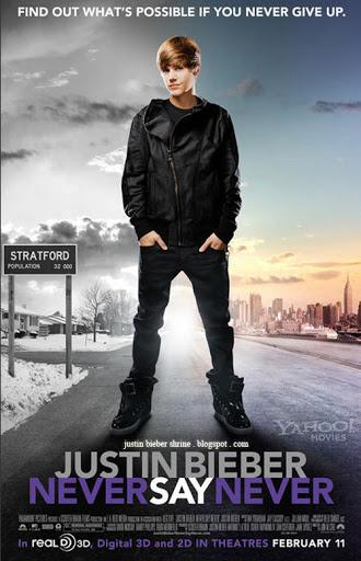justin bieber never say never 3d poster. new justinbieber neversaynever