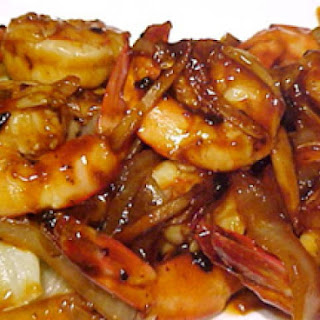 Cantonese Spicy Shrimp With Braised Lettuce