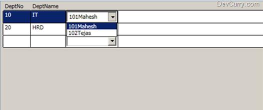 WPF DataGrid Comboxbox