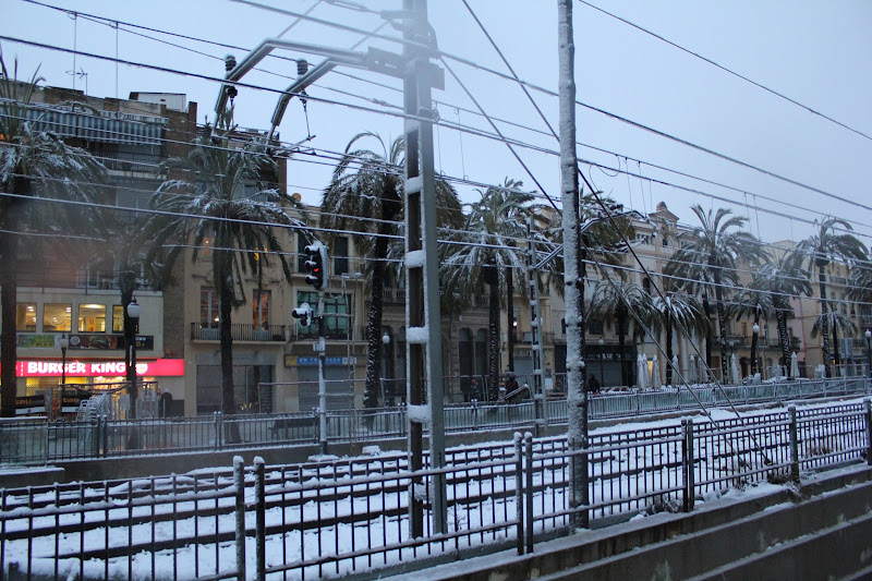 Rambla de Badalona nevada I