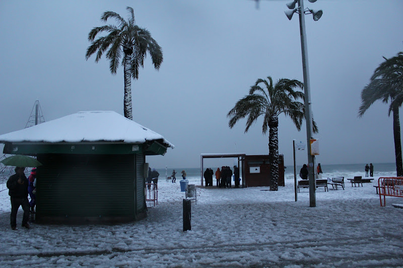 Platja nevada de Badalona I