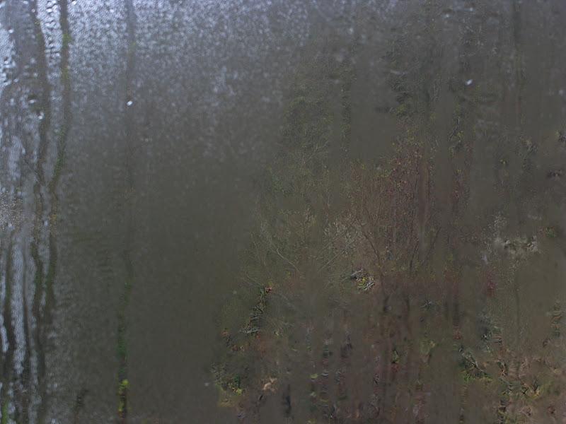 Detall de finestra en dia de pluja