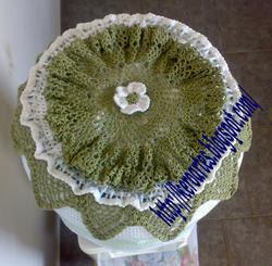 capa garrafao croche tuniziano