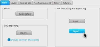 foo_library_Settings_Export FCL