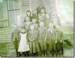 Minnie P. Campbell's first school in Brooklyn, Wisconsin