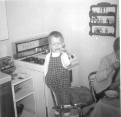 Little Steven in his highchair 1967