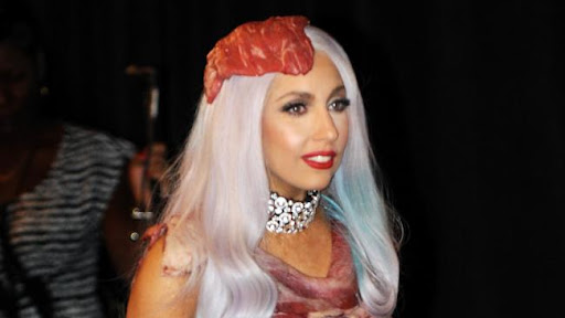 meat dress lady gaga wiki. The pop star Lady Gaga replica