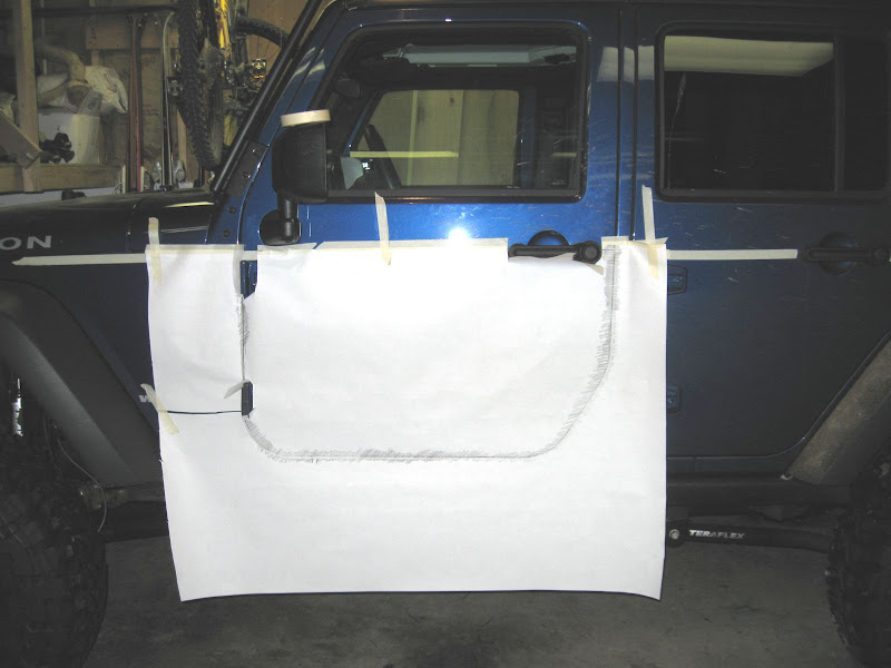 I also cut out some cardboard in roughly the shape of the opening and stuffed it in there so I could weld parts of the door without getting sparks inside ... & Home Made Trail Doors Thread - JKowners.com : Jeep Wrangler JK Forum
