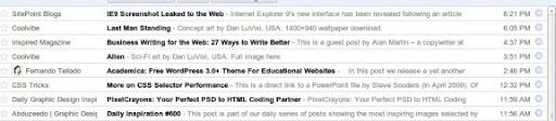 1 y 2 en Google Reader