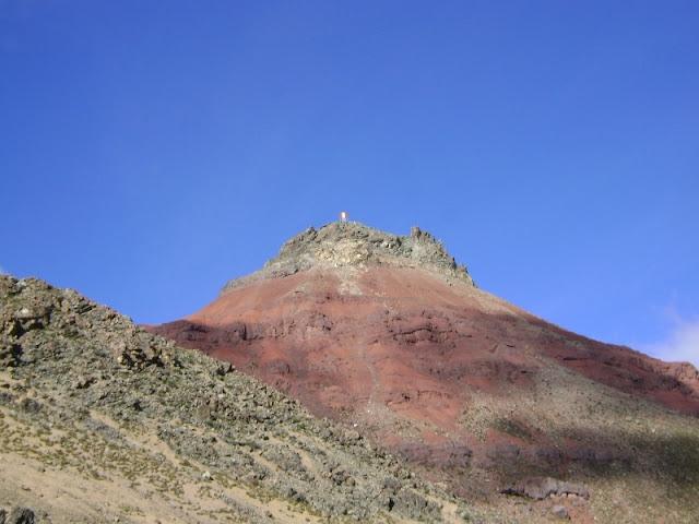 Monte Meiggs vista desde el final de la carretera afirmada