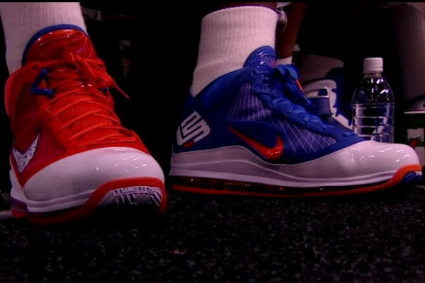LeBron Scores 41 Points on Blazers8230 Wearing Two Different Shoes