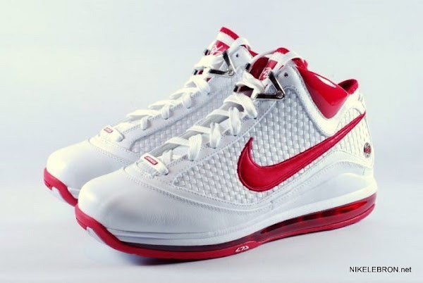 03a3a3624b61 Nike Air Max LeBron VII  383578-161 White Varsity Red
